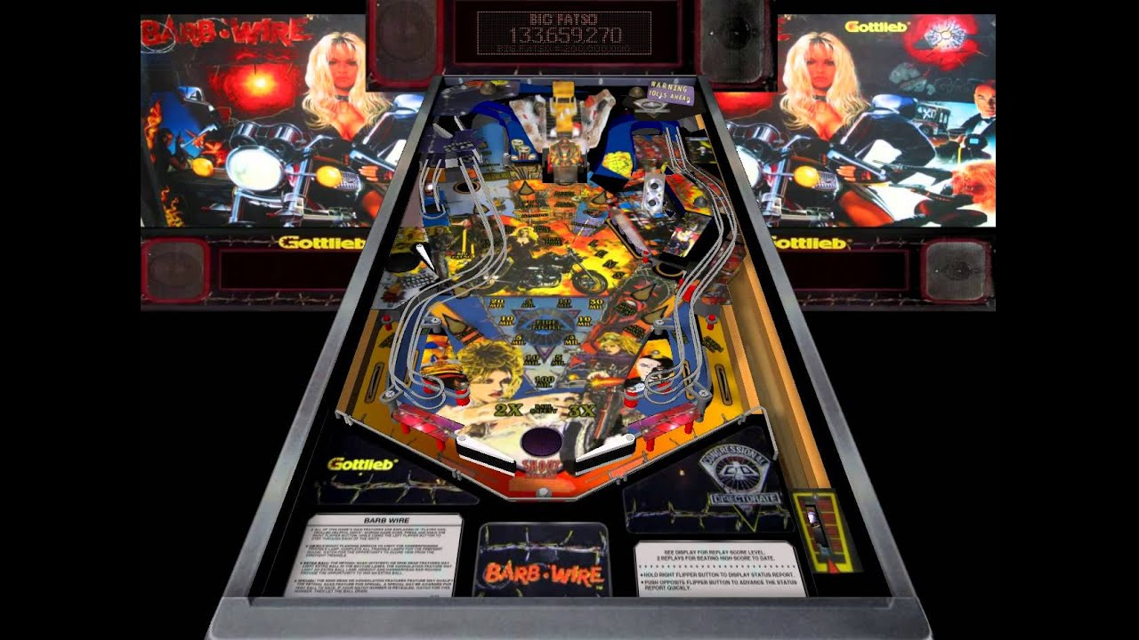 Barb Wire Pinball | Barb Wire Pinball Table Youtube