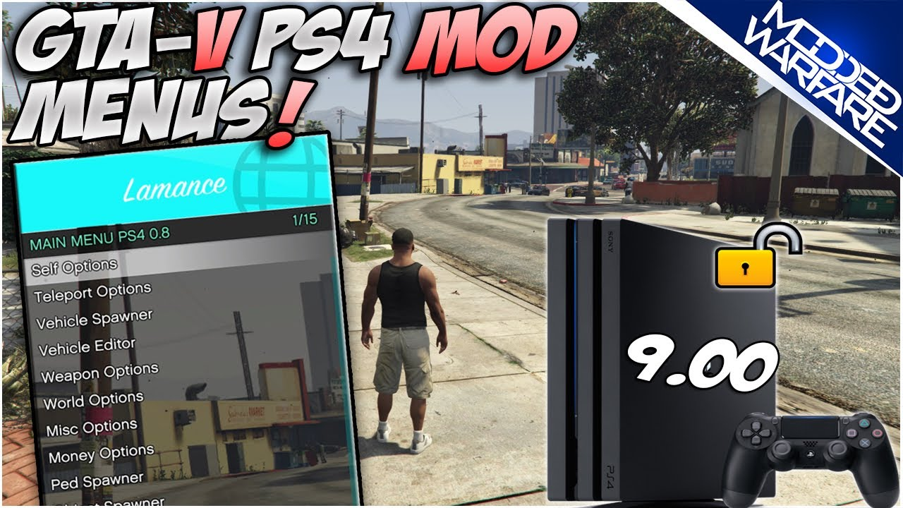 (EP 9) Installing GTA-V Mod Menu's on PS4 (7.55 or Lower!)