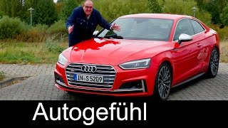 Audi S5 Coupé FULL Review test driven & Comparison A5 old vs new 2017 neu - Autogefühl