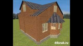Дом из бруса с эркером, проект