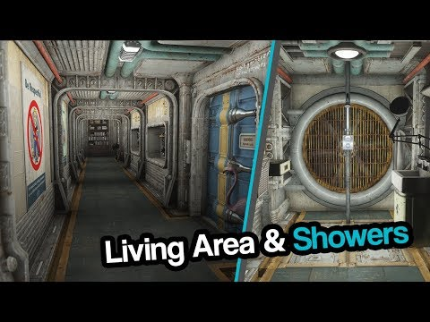 Fallout 4| Vault VII - Living Quarters & Showers
