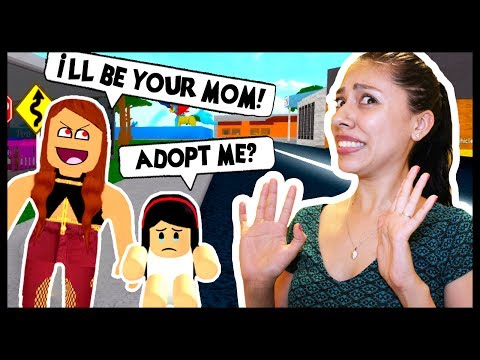 Thumbnail: ADOPT AND RAISE A CUTE KID! - Roblox - THE CRAZY LADY IS TRYING TO ADOPT ME!