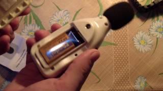 Распаковка обзор и тест измерителя шума