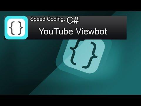 Speed Coding (speed art) simple YouTube Viewbot in C# Visual Studio 2012 Express