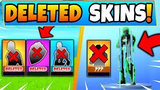 14 DELETED LEAKED SKINS à FORTNITE NO ONE HAS! (Battle Royale Items and Emotes)
