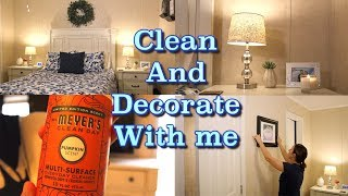 CLEAN AND DECORATE WITH ME | MASTER BEDROOM SPEED CLEAN | CLEANING MOTIVATION