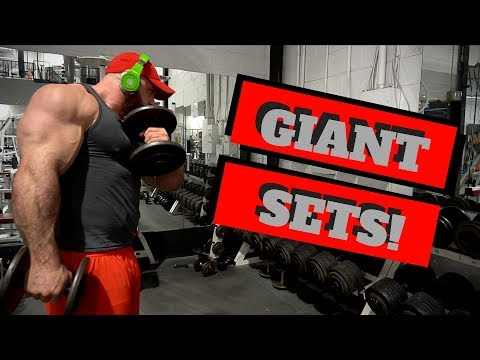 Biceps and Triceps GIANTS SETS plus CONTEST PREP update!