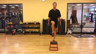 Box Step Up And Stabilization