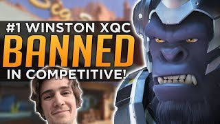 Overwatch: Ranked #1 Winston xQc BANNED in Competitive! thumbnail