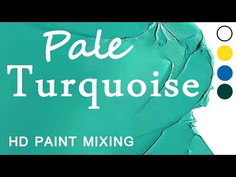 HD Paint Mixing - 'Turquoise' Colour (Oil)