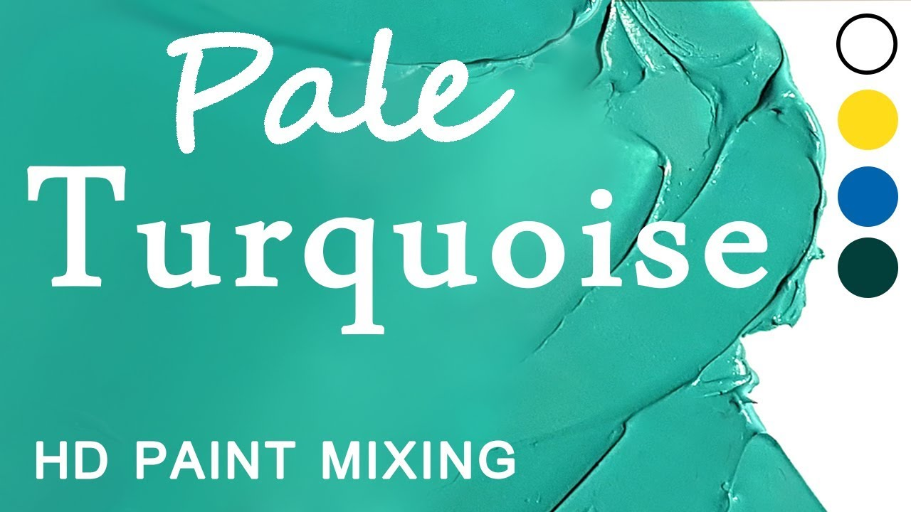 Hd Paint Mixing Turquoise Colour Oil Youtube