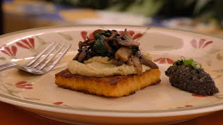 Tostada De Polenta, Hummus De Jalapeño Y Tapenade