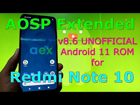 AOSP Extended v8.6 - UNOFFICIAL for Redmi Note 10 ( Mojito / Sunny ) Android 11