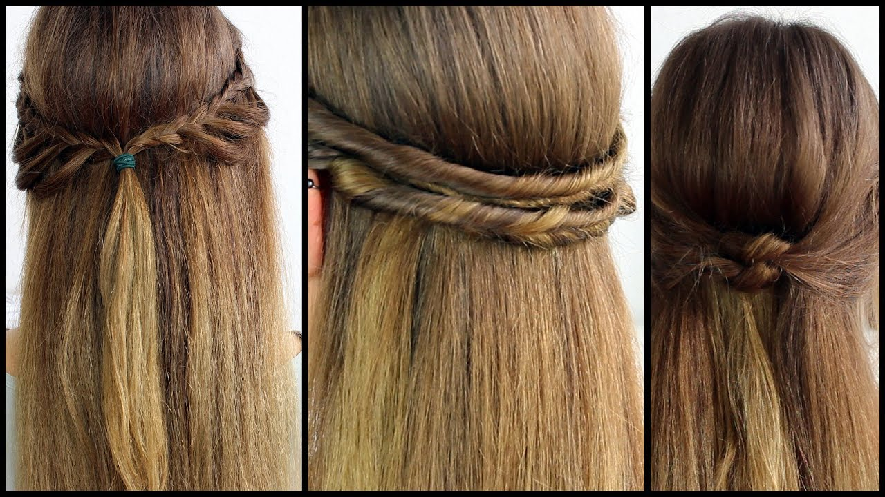 Halboffene Haare Schnell Und Einfach Gestyled Frisuren Freitag