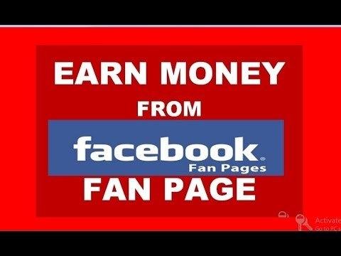 how to make money with facebook fan page