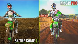 Supercross The Game 2 VS MXGP PRO | Gameplay Video Comparison