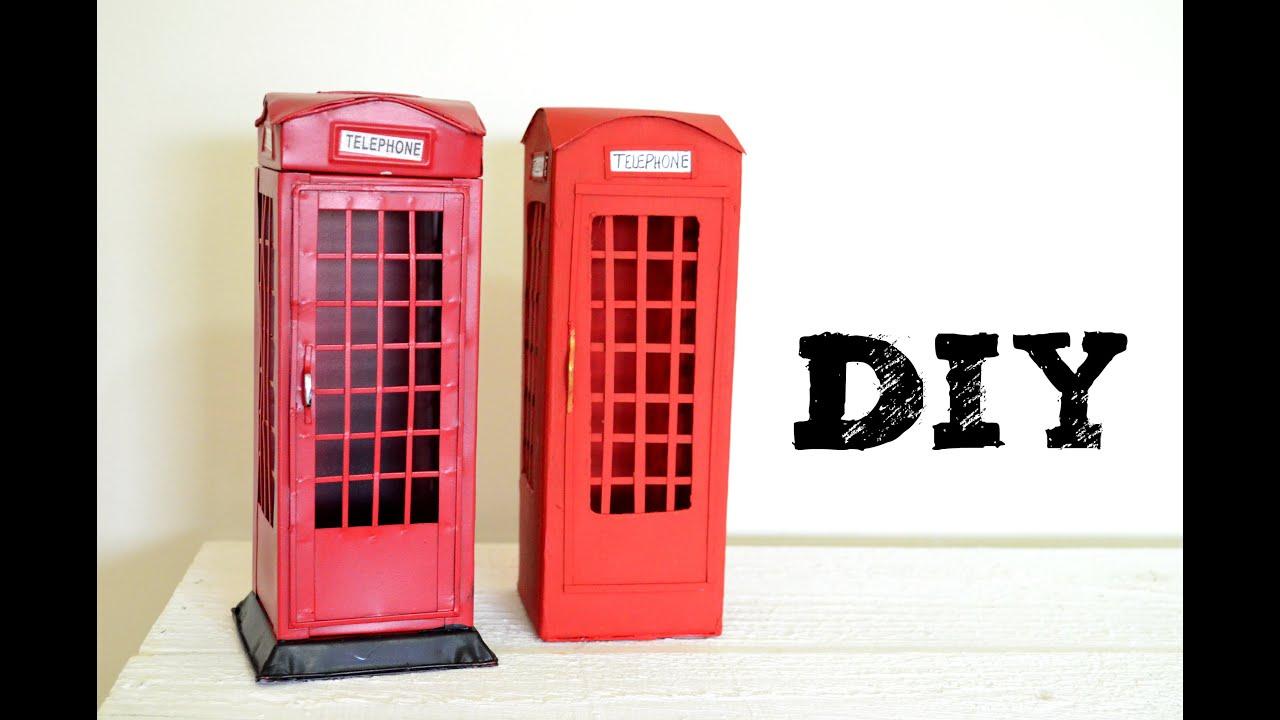 Diy Cabine Telef Nica De Londres Doovi