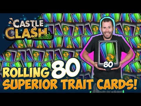 Superior Trait Cards INSANE Rolls ONETIME! Castle Clash