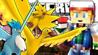 all 3 legendary birds   pokemon minecraft minigame
