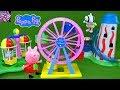 Peppa Pig Theme Park Toys Collection Balloon Ride Big Ferris Wheel Suzy Sheep Danny Dog Slide Toys