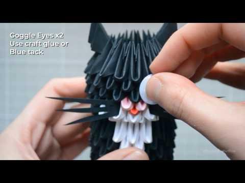 3D Origami Kitten DIY Kit tutorial