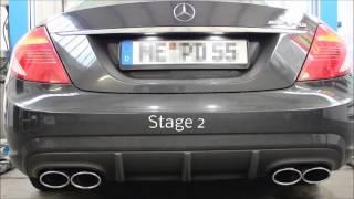 Underground Exhaust Mercedes W216 C216 CL500 AMG Stage 2 Sound