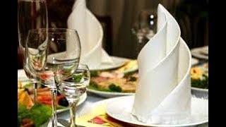 5 Способов Как Красиво-Быстро Сложить Бумажные Салфетки На Праздничный Стол.