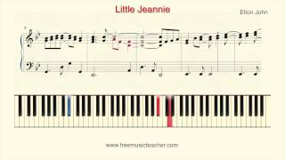 "How To Play Piano: Elton John ""Little Jeannie"" Piano Tutorial by Ramin Yousefi"
