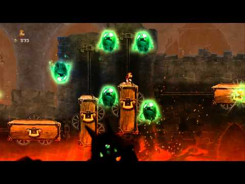Rayman Legends 100% Walkthrough Part 1 - World 1 - Once Upon a Time & Creepy Castle