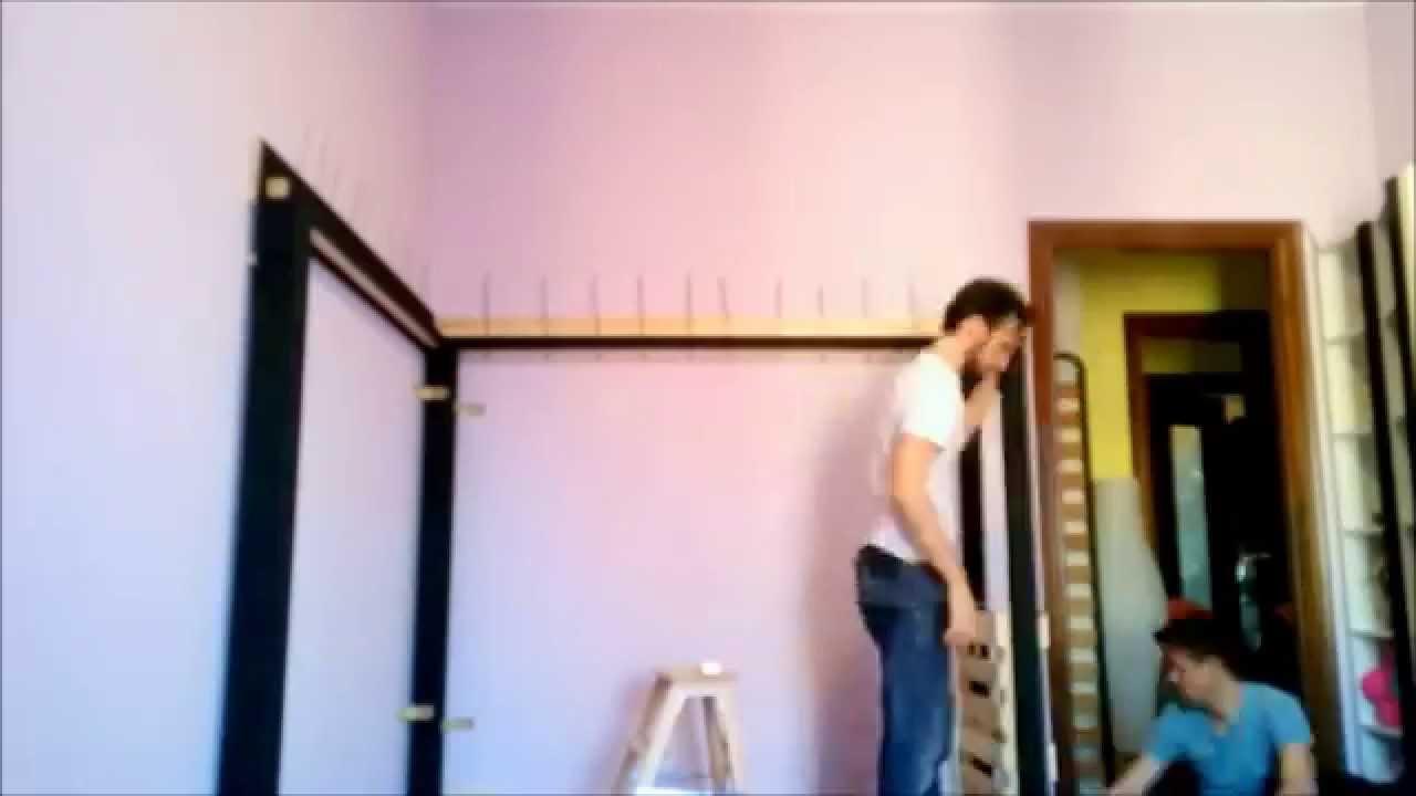 Costruire un letto matrimoniale a soppalco - YouTube