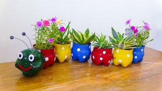 Transformando Garrafas De Plástico em Vasinhos Para Jardins