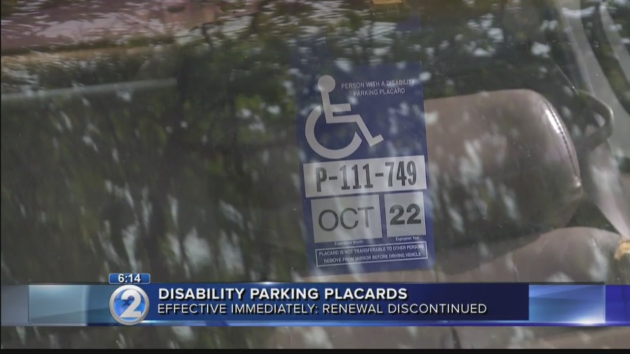 State to stop issuing renewal notices for disability parking placards
