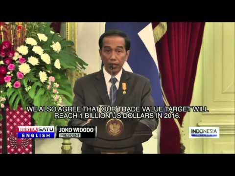 Jokowi Receives Finnish President in Jakarta