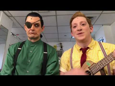 Broadway's Spongebob and Plankton singing F.U.N Song(ft. Guy making all the sounds)