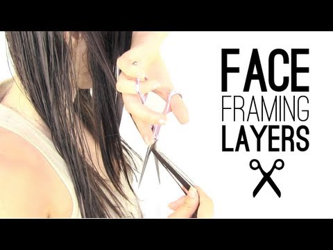 Face framing layers how to - YouTube