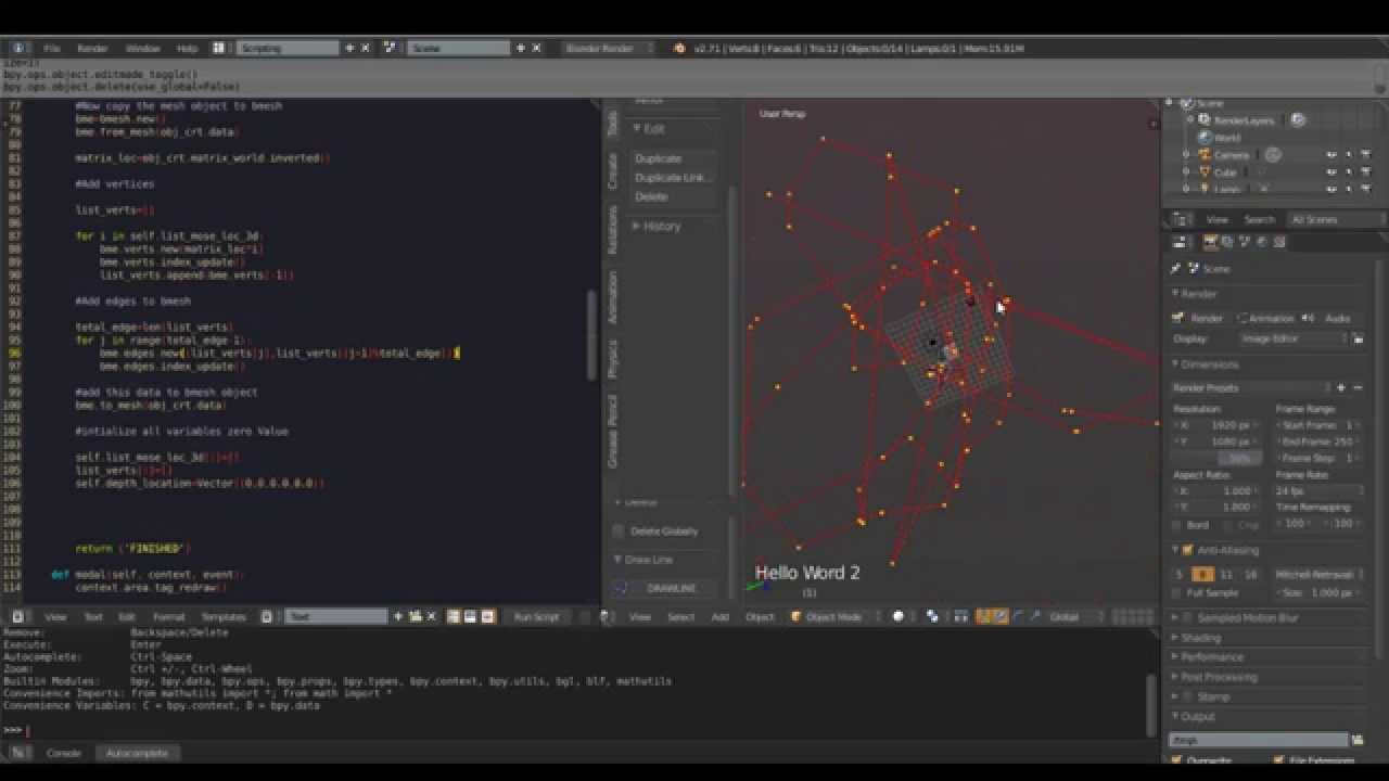 Drawing Lines With Opengl : Blender opengl tutorial draw lines youtube
