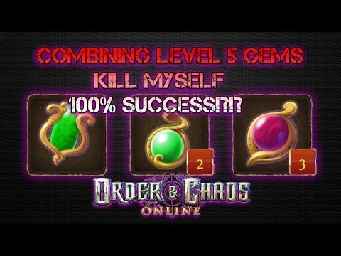 Order & Chaos Online - Speed CRIES - Crafting LEVEL 5 GEMS