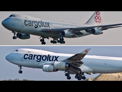 "Cargolux Boeing 747-400F ""Hybrid"" Livery [LX-FCL + LX-GCL] - Double Landing at LUX"