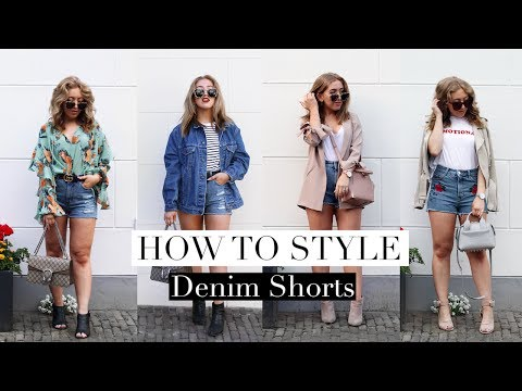 How To Style DENIM SHORTS For Summer Lookbook | FASHION GUIDE