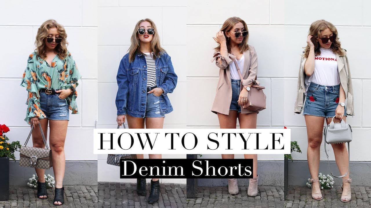 How To Style DENIM SHORTS For Summer Lookbook | FASHION GUIDE 8