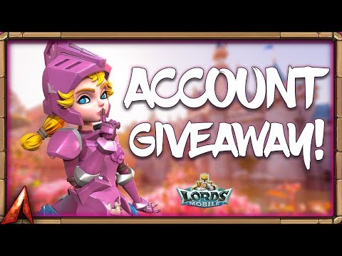 Account Giveaway! Near T4 Account! Lords Mobile