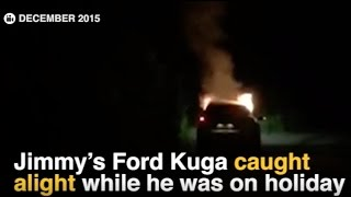 Repeat youtube video EXCLUSIVE: Harrowing footage emerges of fatal Ford Kuga burning