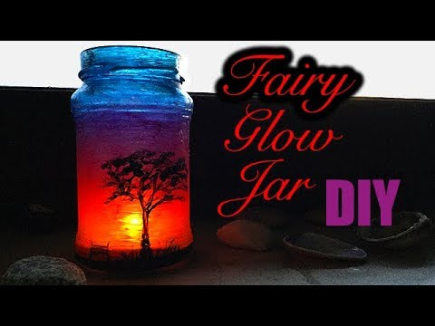 Diy Fairy Glow Jar Sunset Night Light Lantern Youtube