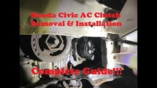 Honda Civic AC Clutch Removal & Replacement