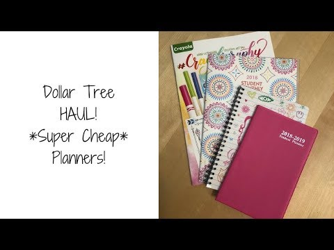 Dollar Tree Haul | Super Cheap Planners!