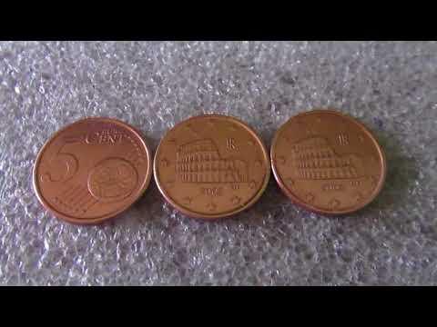 Moeda De 5 Cent De Euro De  Rara No Ano 2002