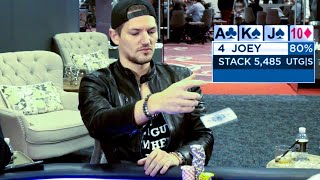 Amer Lays Down The HAMMER vs Joey Ingram In PLO ♠ Live at the Bike!