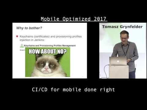 Tomasz Grynfelder – CI/CD for mobile done right
