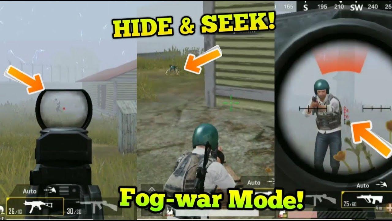 HIDE & SEEK (Fog mode) War In pubg Mobile !