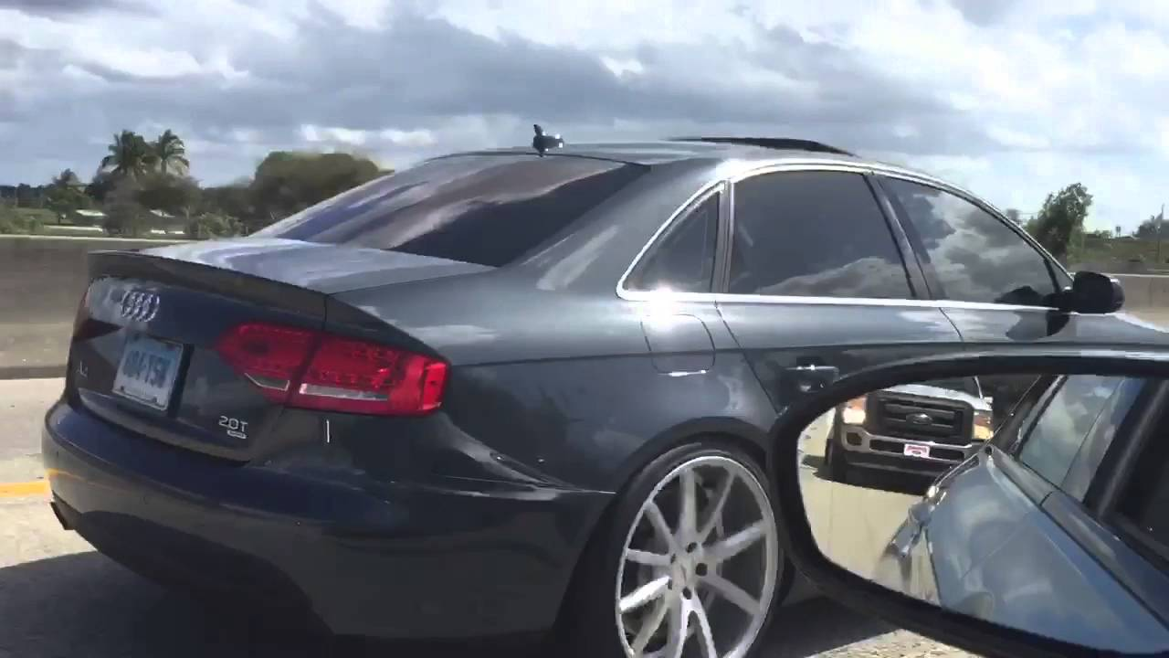 Audi A4 B8 >> Audi A4 b8 Vossen wheels ST Coilovers @nolackinautosociety - YouTube